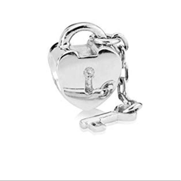 Pandora Jewelry Pandora Sterling Silver Heart Lock Key Charm Poshmark